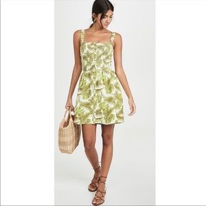 CHASER linen dress with palm leaf print size L